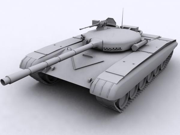 3d t-72 battle tank model