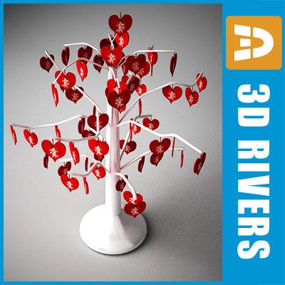 tree heart decoration 3d max