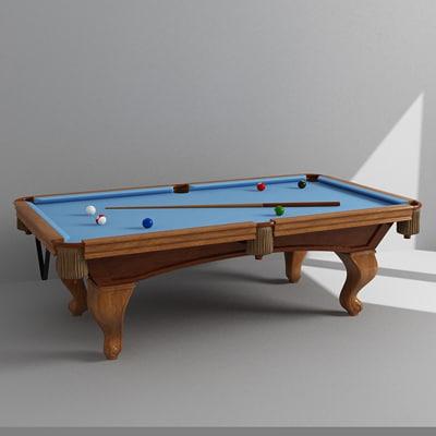 pool billiard 3d model