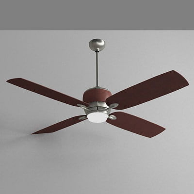 3d ceiling fan light model