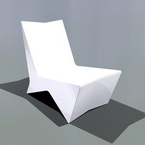 3d model acrylic xp chair