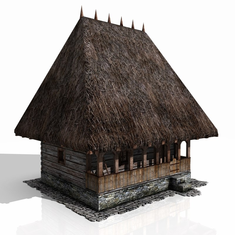 medieval house xvi century 3d obj