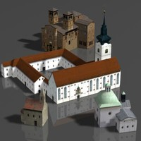 3d curch house model