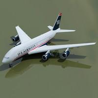 airbus a380 3d max