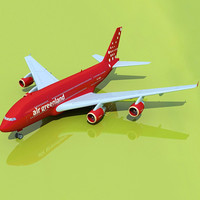 airbus a380 green land 3d model