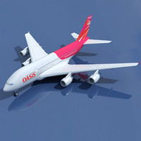 Hong Kong Airlines Airbus 3D Model