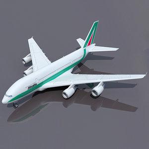 airbus a380 alitalia max