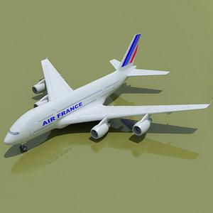 airbus a380 air france obj
