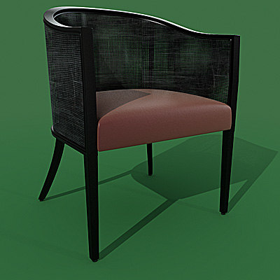 armchair pottocco maui 3d model