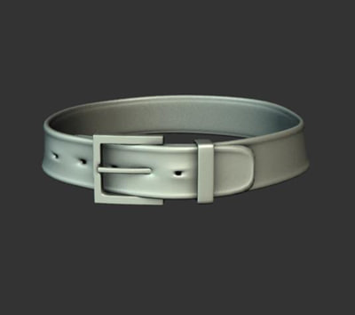 3d model belt buckle