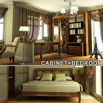 3d model cabinet bedroom