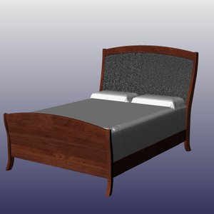 3d canted post bed