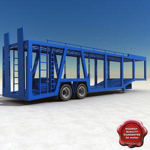 3d car carrier trailer model