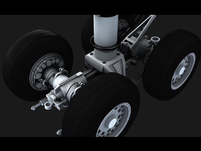 aircraft center wheels 3d obj