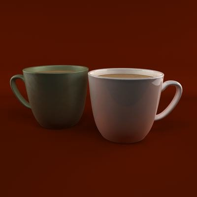 3d model of coffee cup