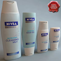 3d model nivea gel modelled