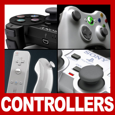 playstation controller gamepad pack 3d 3ds