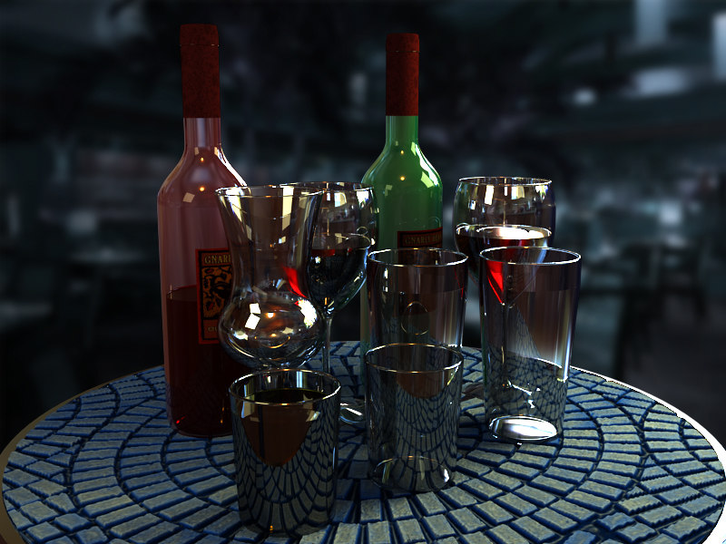 glass cups 3d model