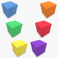 3d happy cube set model