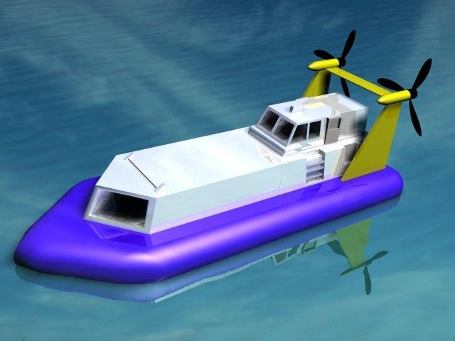 3d model hovercraft hover craft