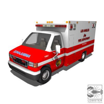 la ambulance 3d model