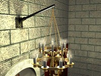 3d lamp chandelier gold model