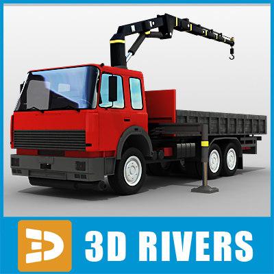 3d model tow truck big