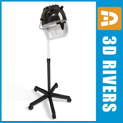 hairdresser hair dryer 3d model