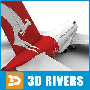 3ds max airbus a380 qantas