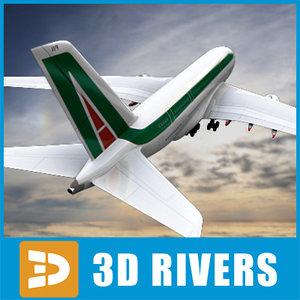 3d airbus a380 alitalia