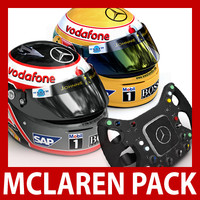3d model alonso f1 helmets mclaren