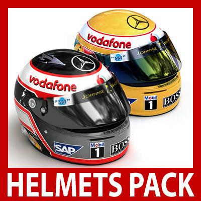 3d model of alonso helmets vodafone mclaren