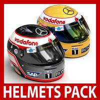 3d alonso helmets vodafone mclaren model