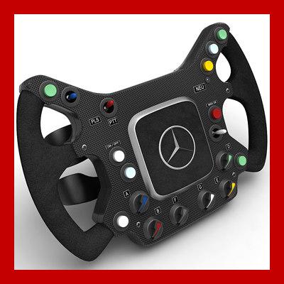 mclaren steering wheel 3d max