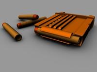 3d model nerf gun darts