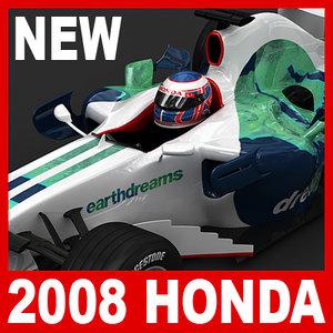 2008 1 honda ra108 3d model