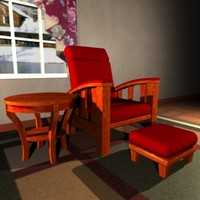 3d recliner ottoman end table