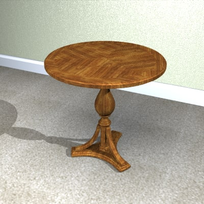 accent table 3d 3dm