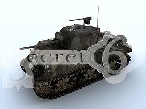 m4 sherman wwii tank obj