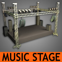 music stage speakers 3d model