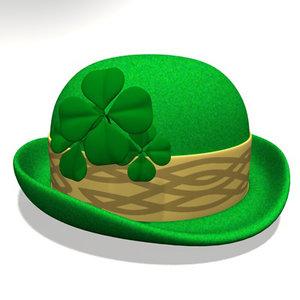 3d st patrick day hat model