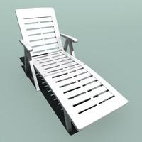 garden sun lounger 3d model