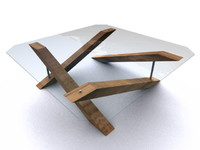 Modern Wooden-Glass Table