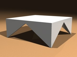 contemporary triangle table 3d dwg