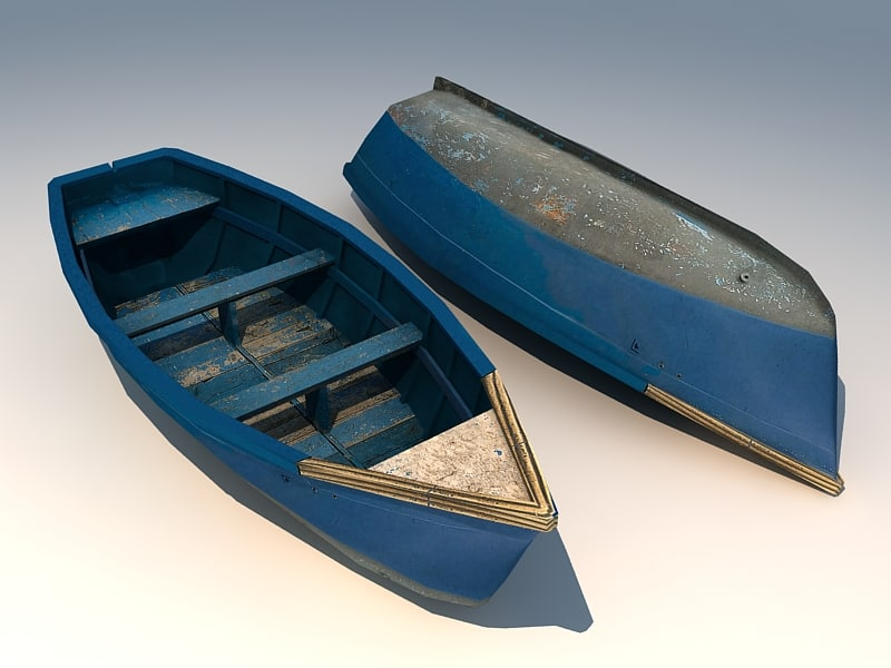 wooden boat wood 3d model