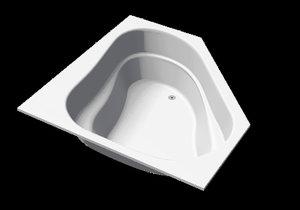 corner bath acapulco sanotechnik 3d model