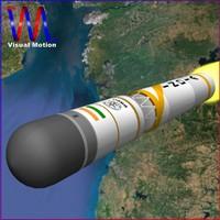 3d india ballistic missile