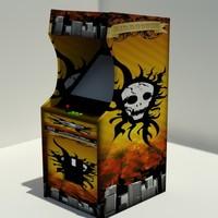 retro arcade 3d model