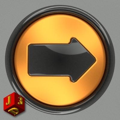 free 3ds model button web design
