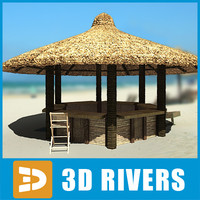 3ds max tropical beach bar chairs